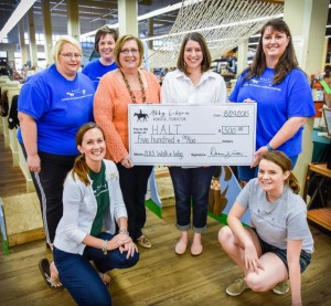 Abby Gibson Memorial Foundation check presentation to H.A.L.T. for the 2015-2016 Class Sponsorships